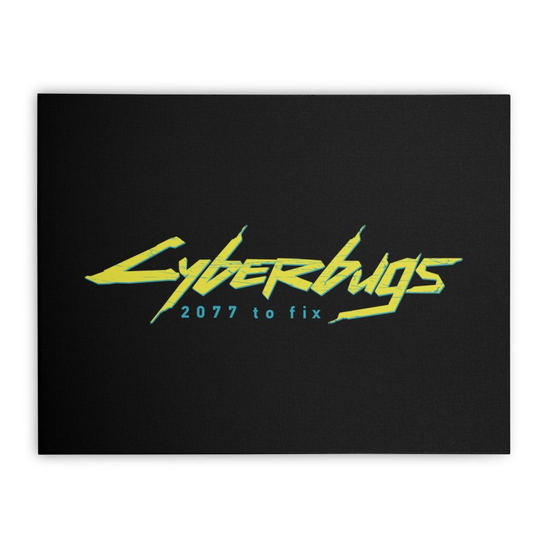 Cyberbugs Home Stretched Canvas by Olipop Art & Design Shop