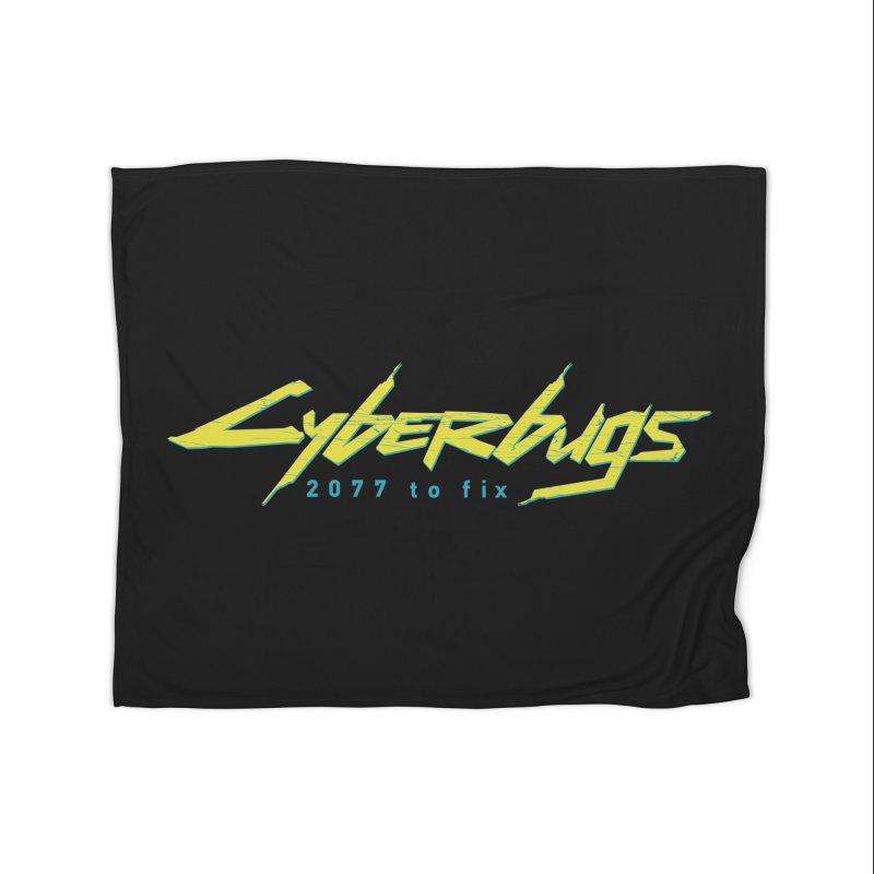 Cyberbugs Home Blanket by Olipop Art & Design Shop
