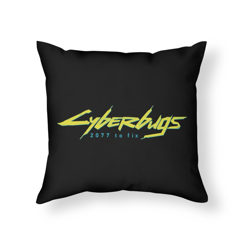 Cyberbugs Home Throw Pillow by Olipop Art & Design Shop