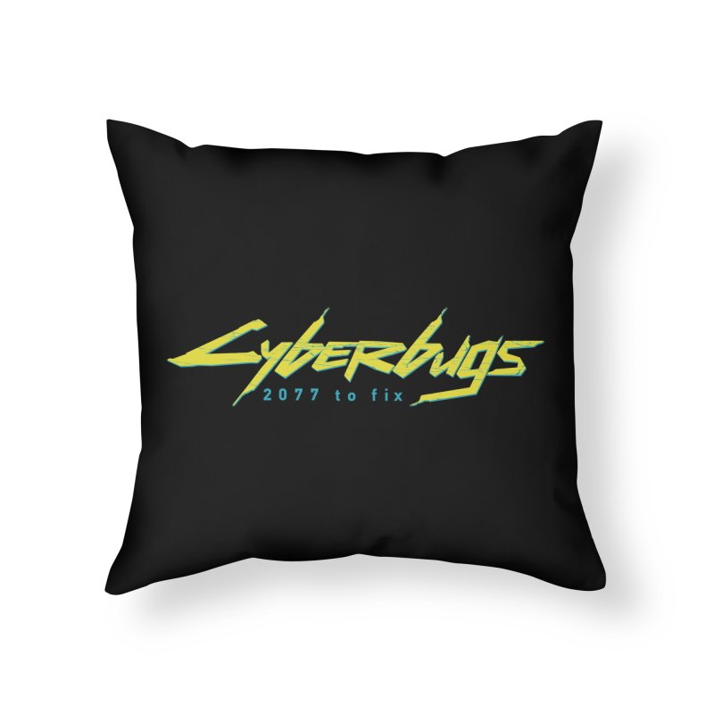 Cyberbugs Home Throw Pillow by Olipop Art & Design Shop