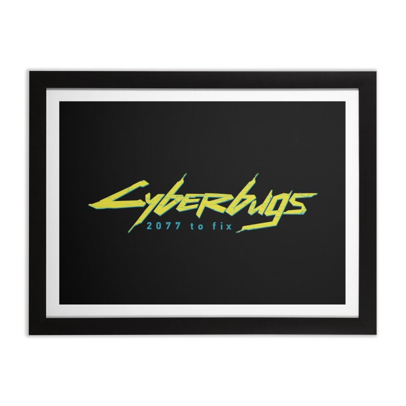 Cyberbugs Home Framed Fine Art Print by Olipop Art & Design Shop