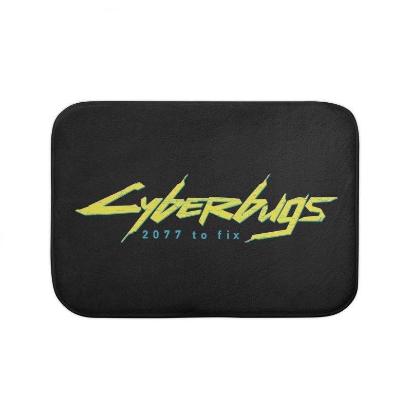 Cyberbugs Home Bath Mat by Olipop Art & Design Shop