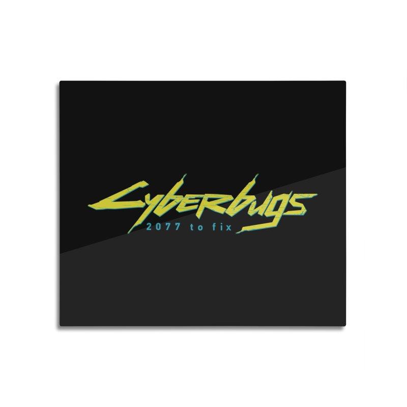Cyberbugs Home Mounted Acrylic Print by Olipop Art & Design Shop