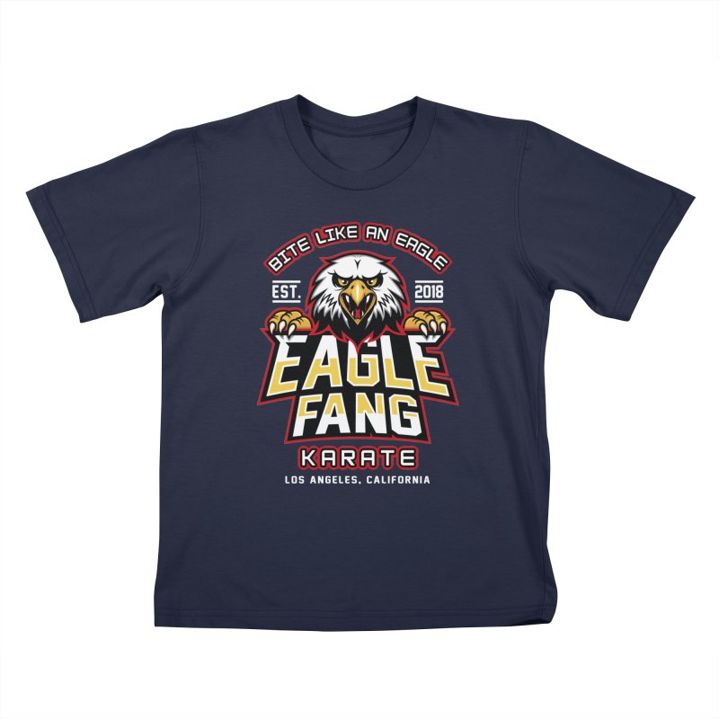 Eagle Karate Dojo Kids T-Shirt by Olipop Art & Design Shop