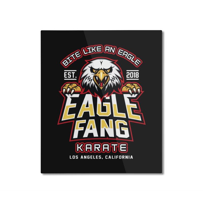 Eagle Karate Dojo Home Mounted Aluminum Print by Olipop Art & Design Shop