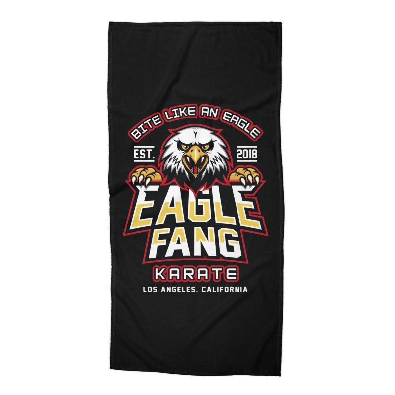 Eagle Karate Dojo Accessories Beach Towel by Olipop Art & Design Shop
