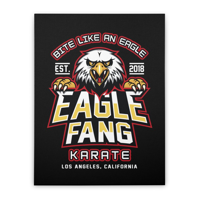 Eagle Karate Dojo Home Stretched Canvas by Olipop Art & Design Shop
