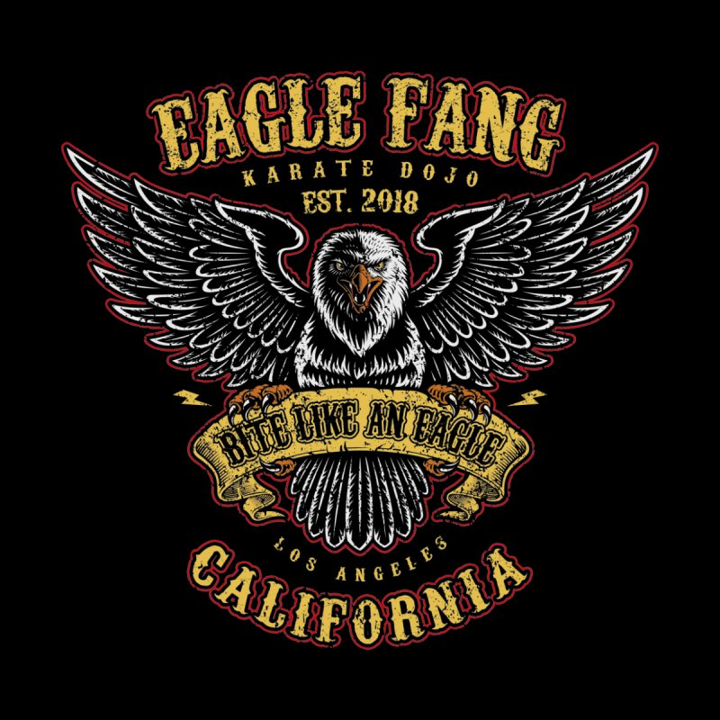 Eagle Fang Club Patch Home Mounted Aluminum Print by Olipop Art & Design Shop