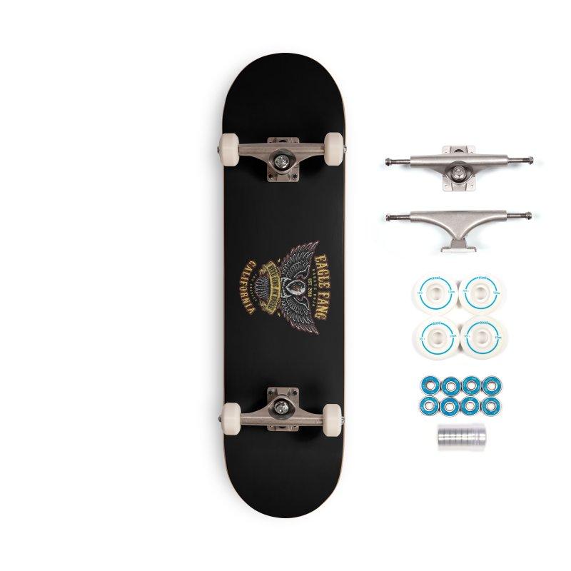 Eagle Fang Club Patch Accessories Skateboard by Olipop Art & Design Shop