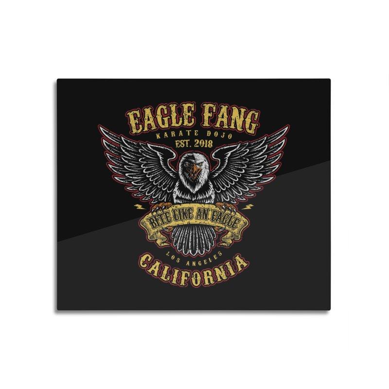 Eagle Fang Club Patch Home Mounted Aluminum Print by Olipop Art & Design Shop