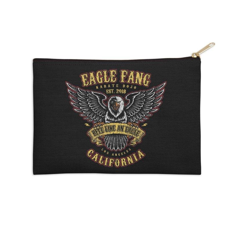 Eagle Fang Club Patch Accessories Zip Pouch by Olipop Art & Design Shop