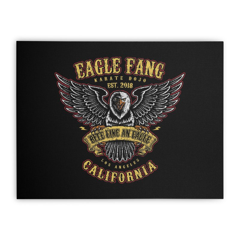 Eagle Fang Club Patch Home Stretched Canvas by Olipop Art & Design Shop