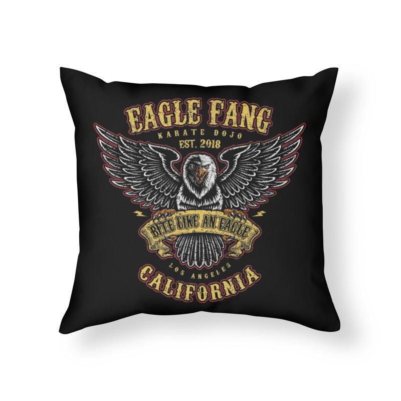 Eagle Fang Club Patch Home Throw Pillow by Olipop Art & Design Shop