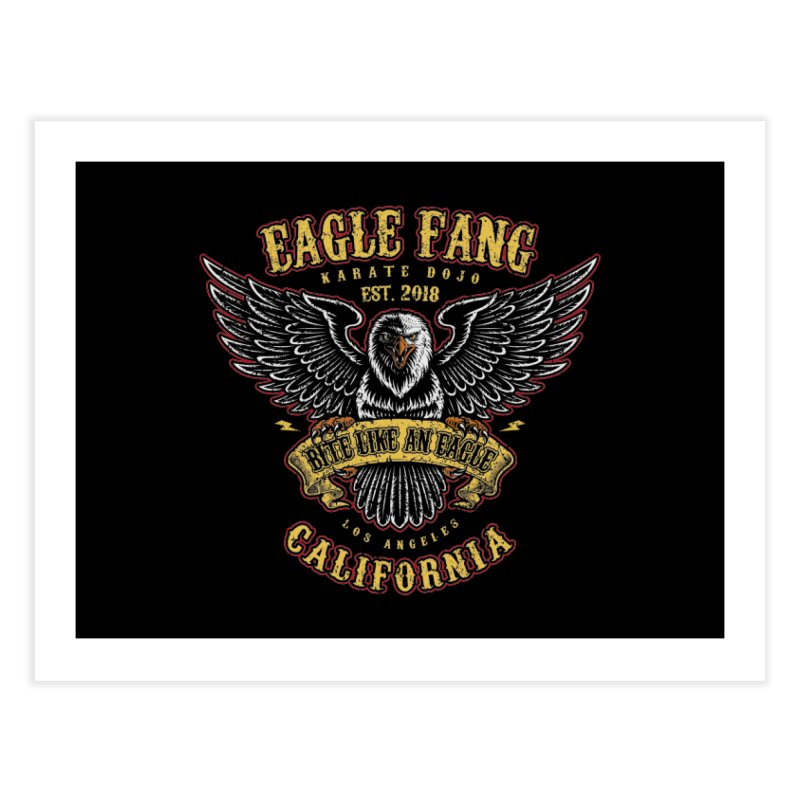 Eagle Fang Club Patch Home Fine Art Print by Olipop Art & Design Shop