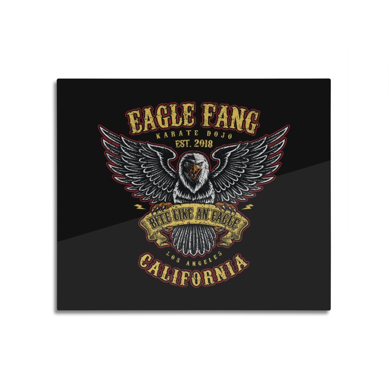 Eagle Fang Club Patch v2 Home Mounted Aluminum Print by Olipop Art & Design Shop