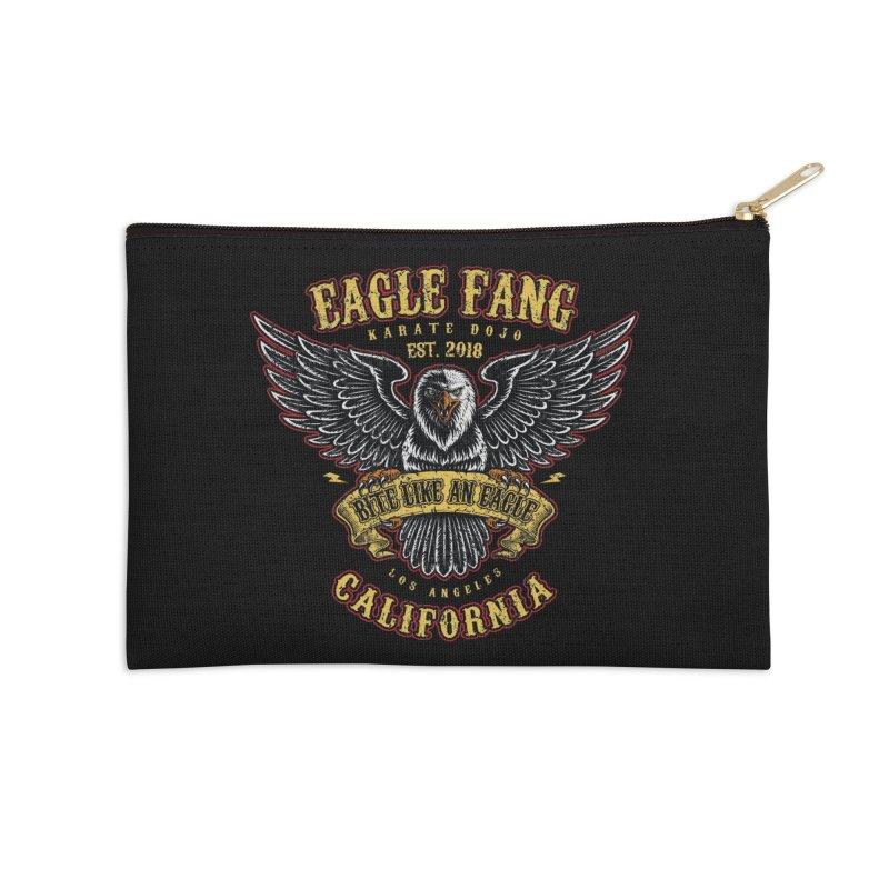 Eagle Fang Club Patch v2 Accessories Zip Pouch by Olipop Art & Design Shop