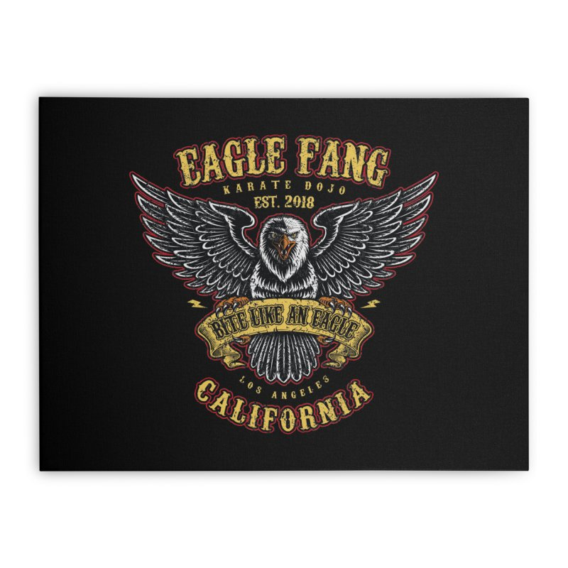 Eagle Fang Club Patch v2 Home Stretched Canvas by Olipop Art & Design Shop
