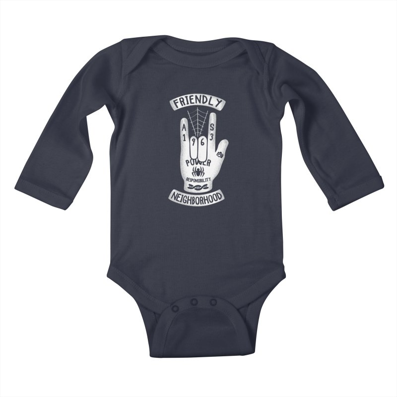 Spider Hand Kids Baby Longsleeve Bodysuit by Olipop Art & Design Shop