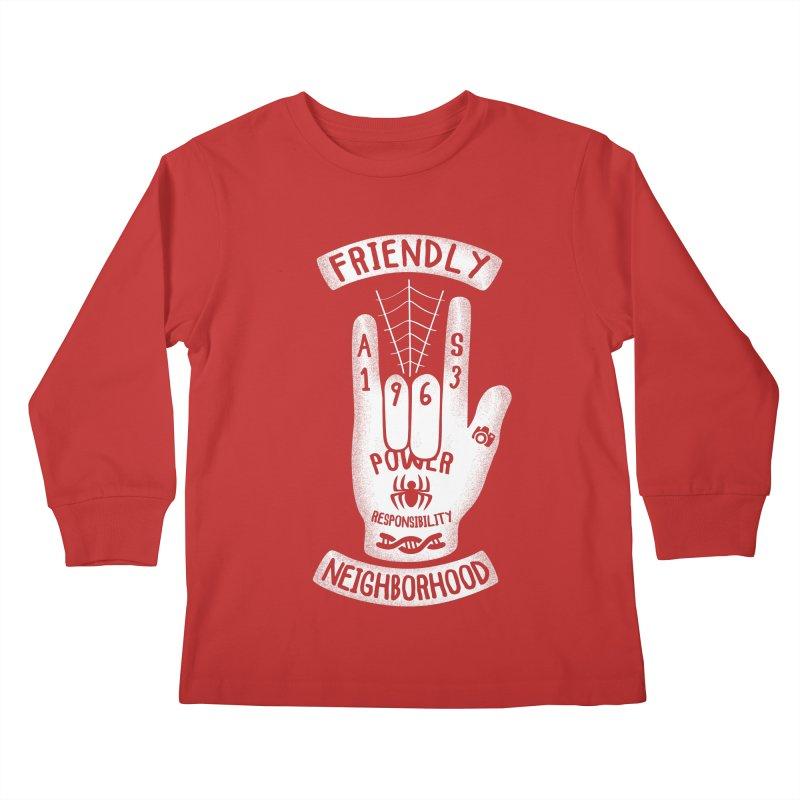 Spider Hand Kids Longsleeve T-Shirt by Olipop Art & Design Shop