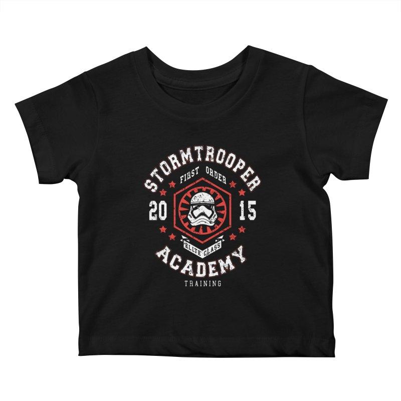 Stormtrooper Academy 15 Kids Baby T-Shirt by Olipop Art & Design Shop