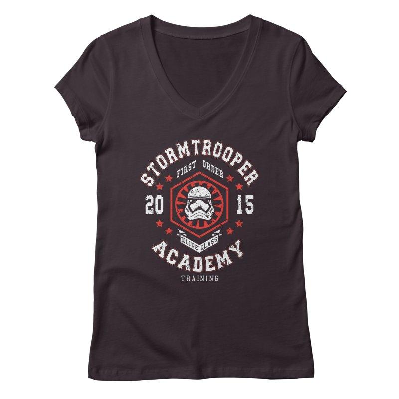 Stormtrooper Academy 15 Women's V-Neck by Olipop Art & Design Shop