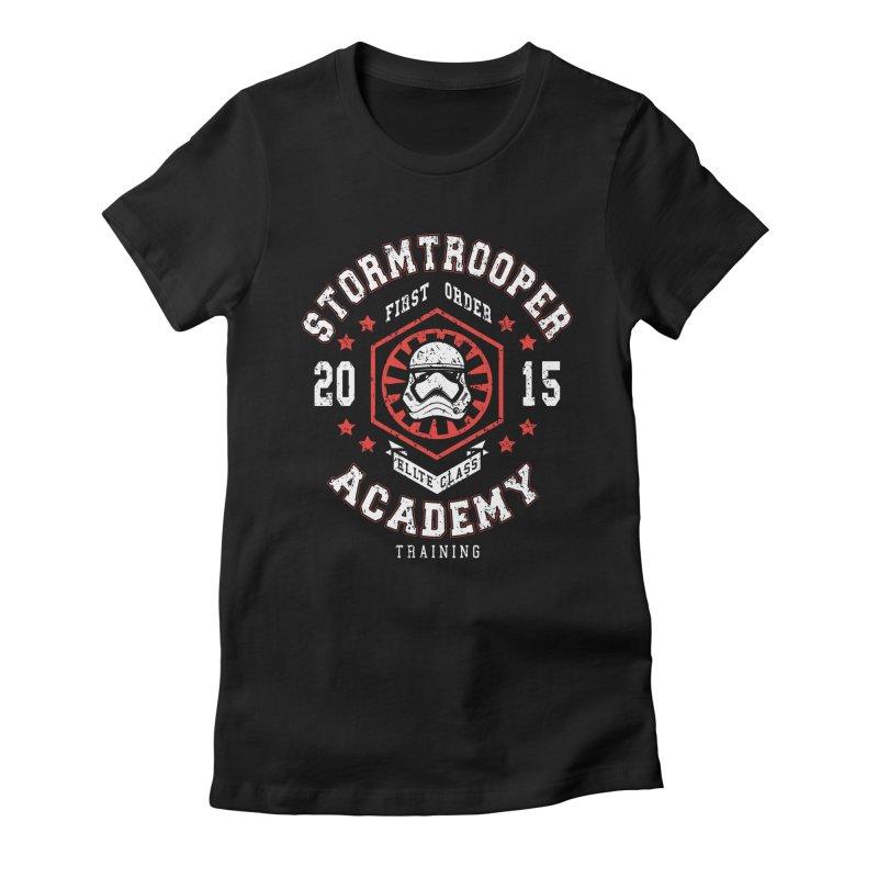 Stormtrooper Academy 15 Women's Fitted T-Shirt by Olipop Art & Design Shop