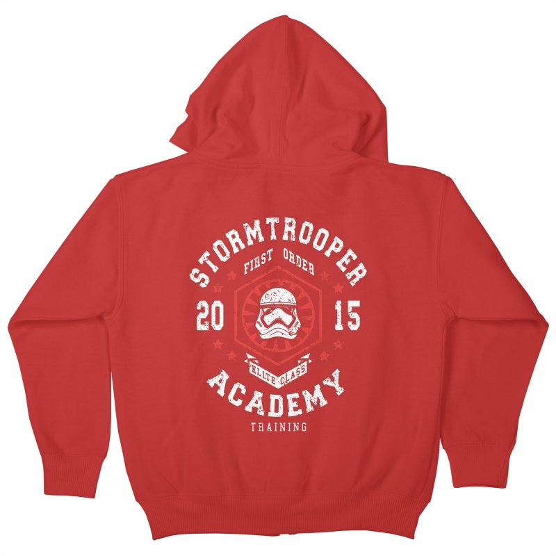 Stormtrooper Academy 15 Kids Zip-Up Hoody by Olipop Art & Design Shop