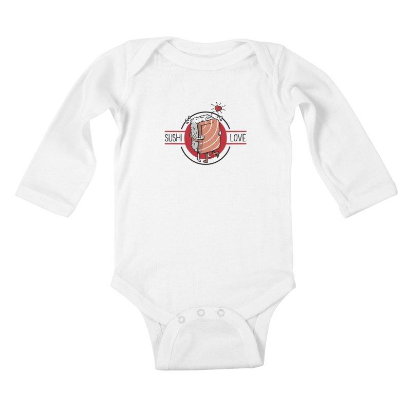 Sushi Love Kids Baby Longsleeve Bodysuit by Olipop Art & Design Shop