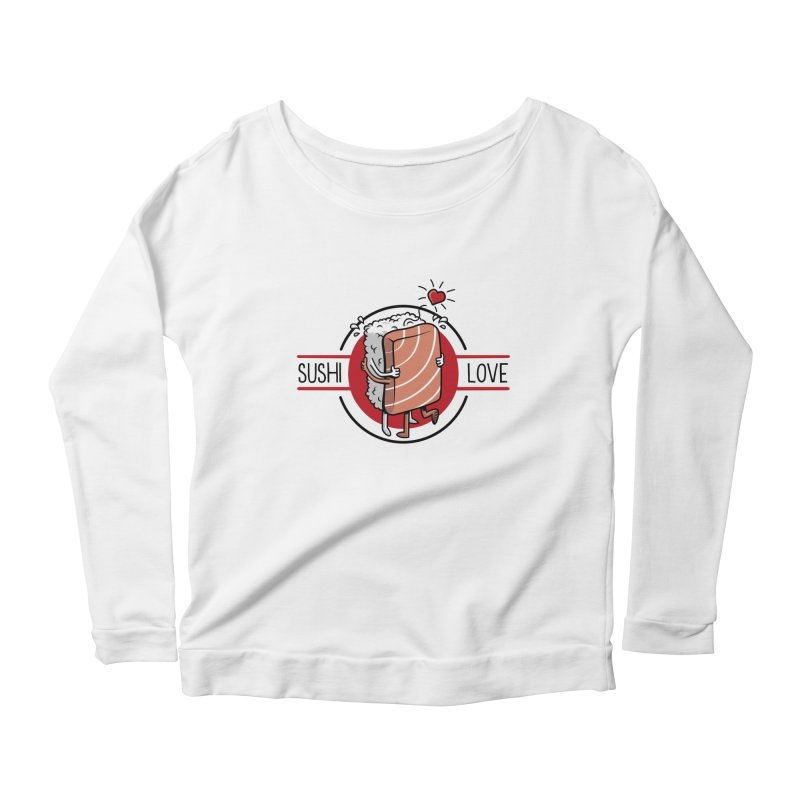 Sushi Love Women's Longsleeve Scoopneck  by Olipop Art & Design Shop
