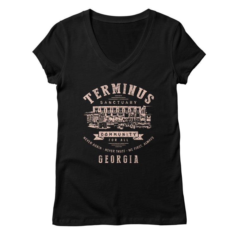 Terminus Sanctuary Community Women's V-Neck by Olipop Art & Design Shop