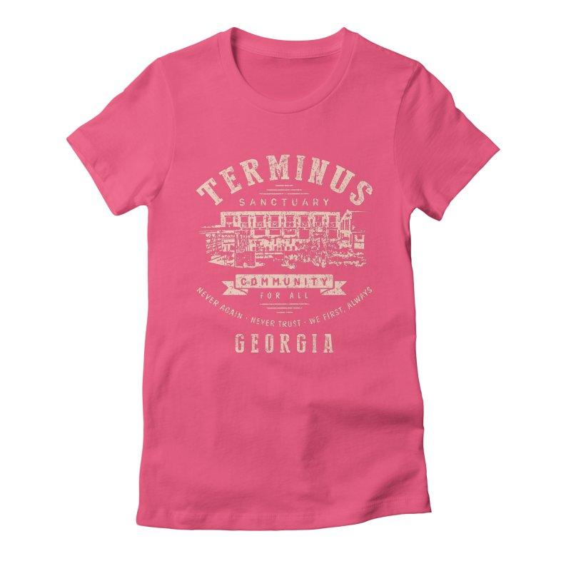 Terminus Sanctuary Community Women's Fitted T-Shirt by Olipop Art & Design Shop