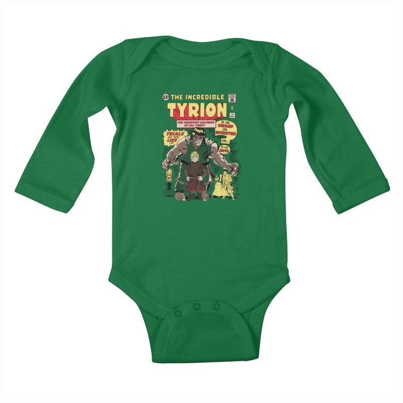 The Incredible Imp Kids Baby Longsleeve Bodysuit by Olipop Art & Design Shop