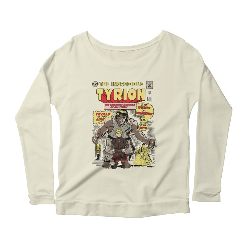 The Incredible Imp Women's Longsleeve Scoopneck  by Olipop Art & Design Shop