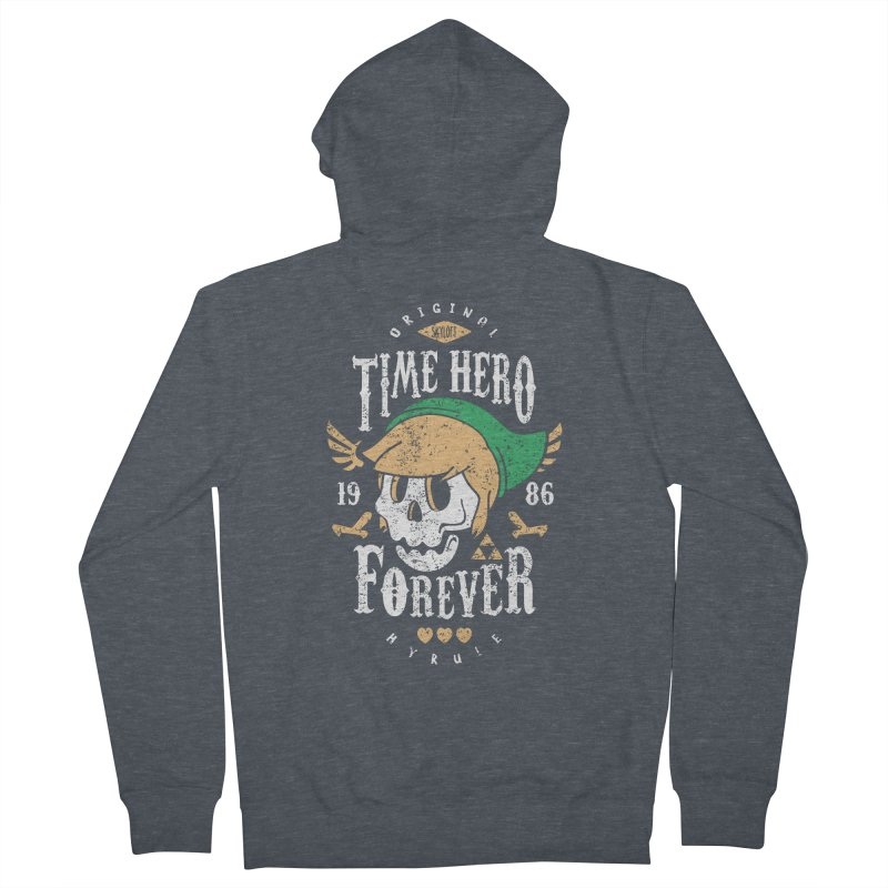 Time Hero Forever Men's Zip-Up Hoody by Olipop Art & Design Shop
