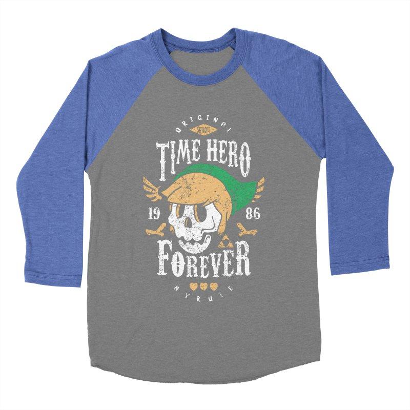 Time Hero Forever Men's Baseball Triblend T-Shirt by Olipop Art & Design Shop