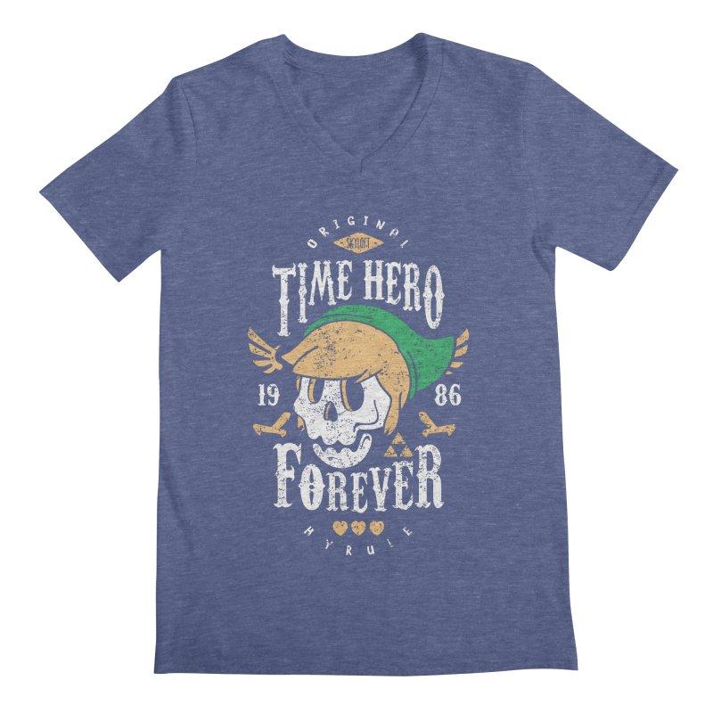 Time Hero Forever Men's V-Neck by Olipop Art & Design Shop