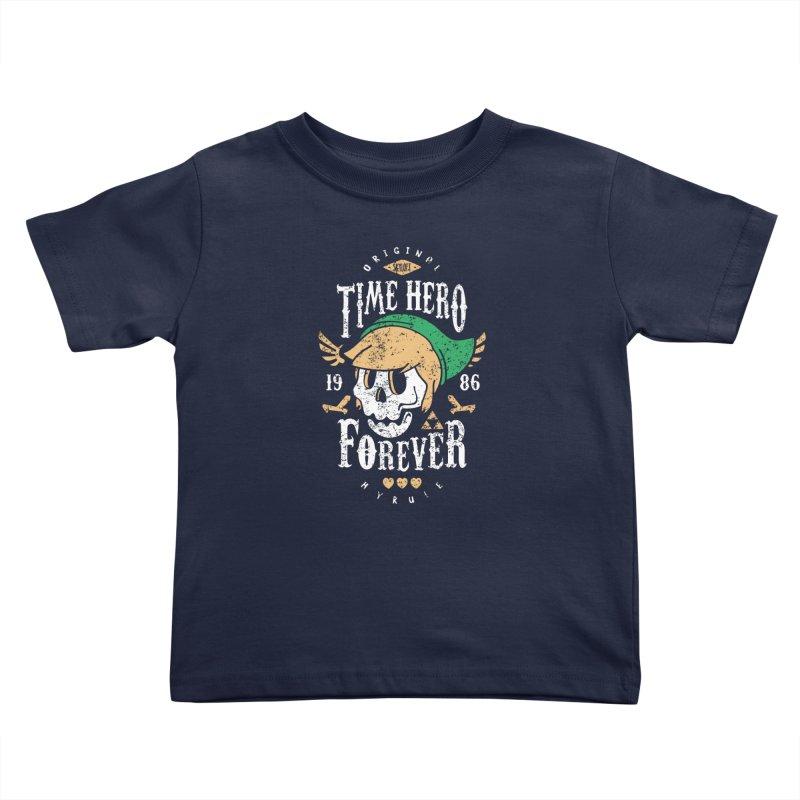 Time Hero Forever Kids Toddler T-Shirt by Olipop Art & Design Shop