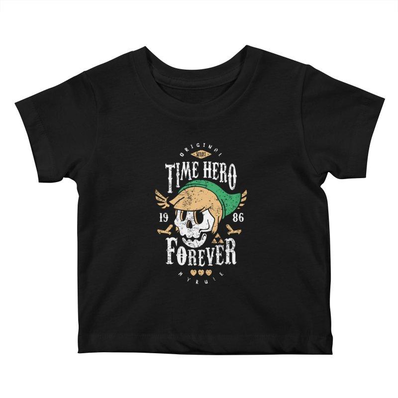 Time Hero Forever Kids Baby T-Shirt by Olipop Art & Design Shop