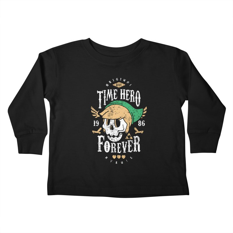 Time Hero Forever Kids Toddler Longsleeve T-Shirt by Olipop Art & Design Shop