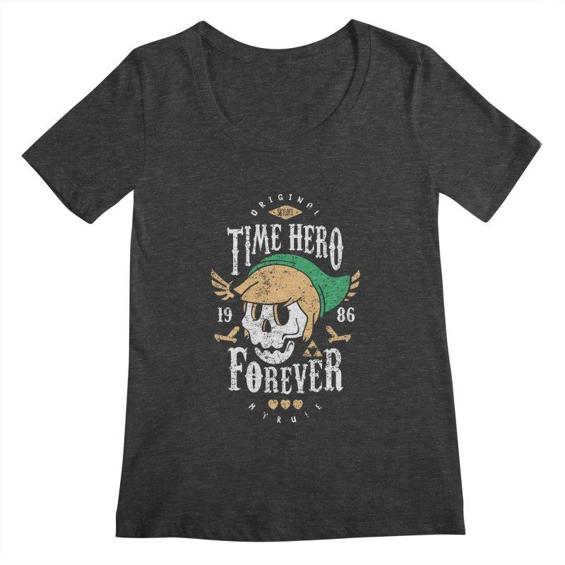 Time Hero Forever Women's Scoopneck by Olipop Art & Design Shop