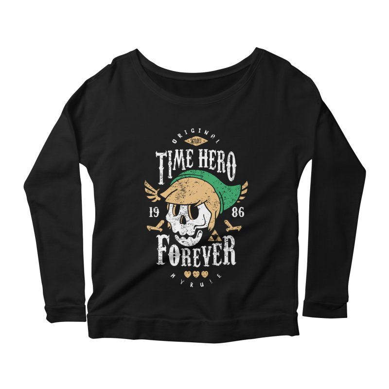 Time Hero Forever Women's Longsleeve Scoopneck  by Olipop Art & Design Shop