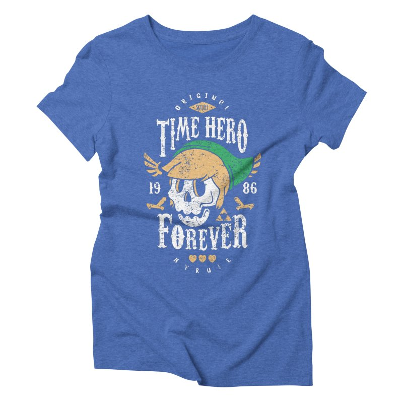 Time Hero Forever Women's Triblend T-Shirt by Olipop Art & Design Shop