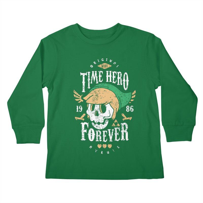 Time Hero Forever Kids Longsleeve T-Shirt by Olipop Art & Design Shop