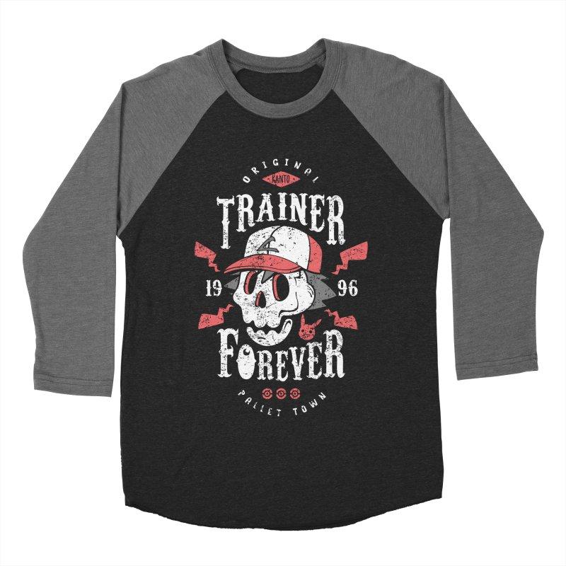 Trainer Forever Men's Baseball Triblend T-Shirt by Olipop Art & Design Shop