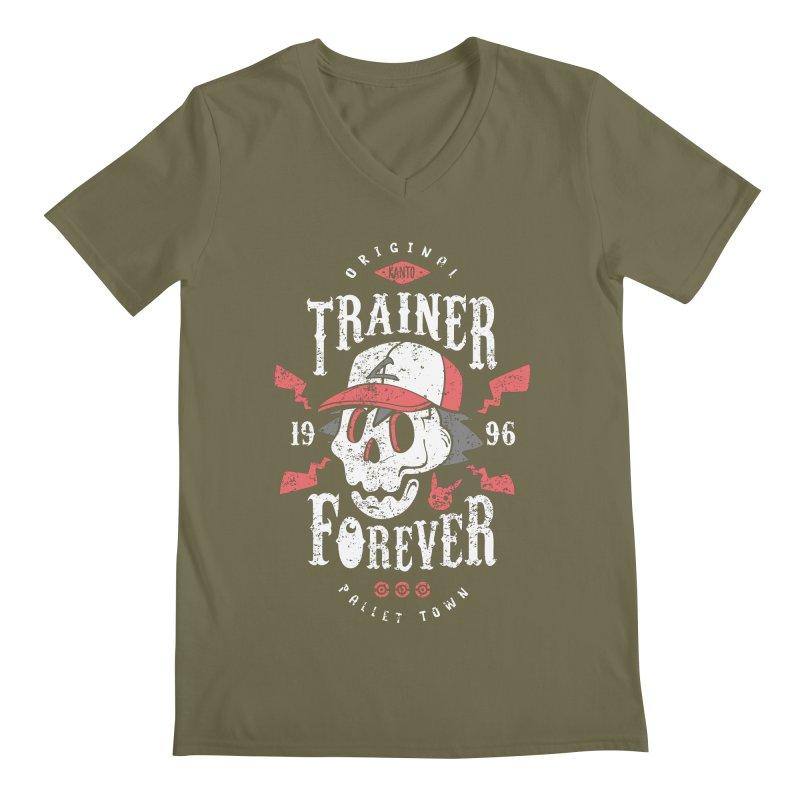 Trainer Forever Men's V-Neck by Olipop Art & Design Shop