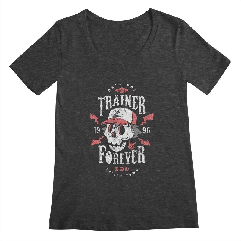 Trainer Forever Women's Scoopneck by Olipop Art & Design Shop