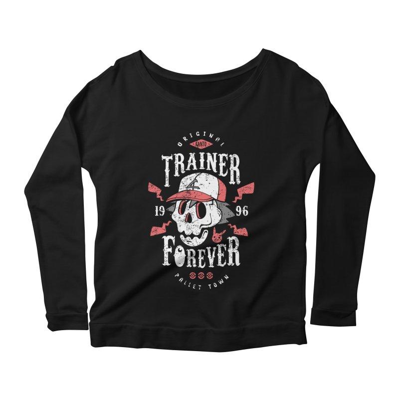 Trainer Forever Women's Longsleeve Scoopneck  by Olipop Art & Design Shop
