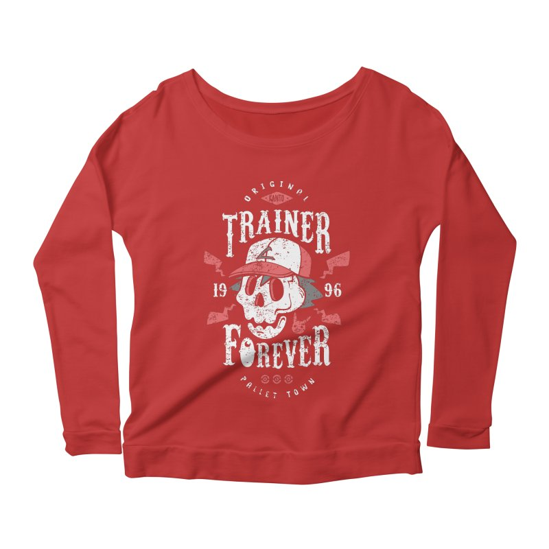 Trainer Forever Women's Longsleeve Scoopneck  by Olipop Art & Design Shop