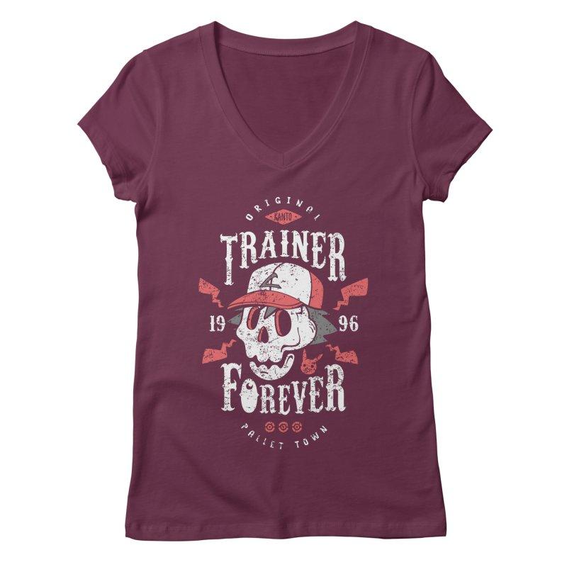Trainer Forever Women's V-Neck by Olipop Art & Design Shop