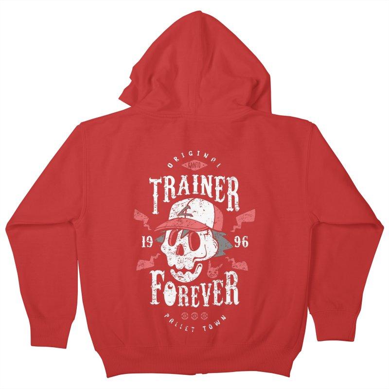 Trainer Forever Kids Zip-Up Hoody by Olipop Art & Design Shop